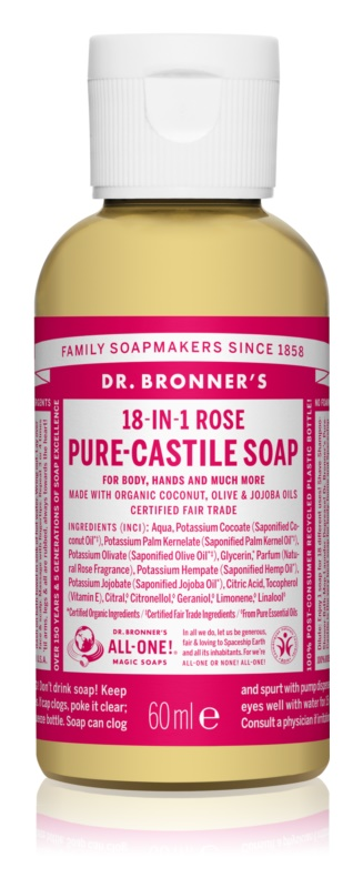 Dr. Bronner's Rose Universal Liquid Soap