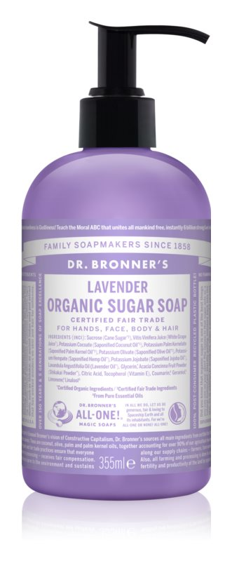 Dr. Bronner's Lavender tekuté mydlo na telo a vlasy
