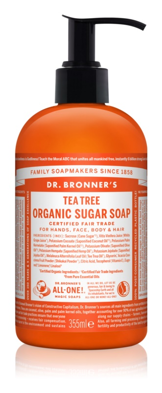 Dr. Bronner's Tea Tree tekuté mydlo na telo a vlasy