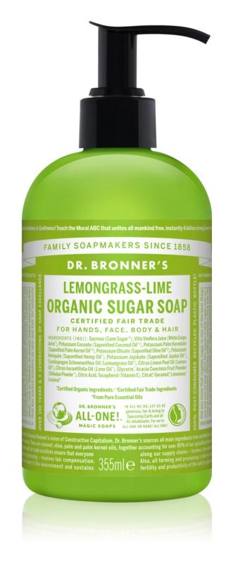 Dr. Bronner's Lemongrass & Lime sapun lichid pentru corp si par