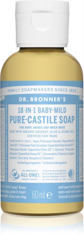 Dr. Bronner's Baby-Mild Universal Liquid Soap Fragrance-Free