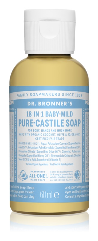 Dr. Bronner's Baby-Mild рідке універсальне мило без ароматизатора