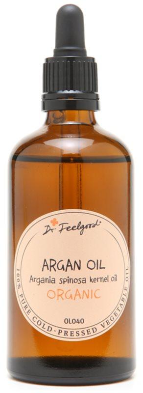 Dr. Feelgood BIO and RAW óleo cosmético de argan para rosto, corpo e cabelo