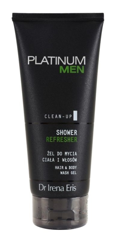 Dr Irena Eris Platinum Men Clean-Up gel de dus revigorant pentru corp si par