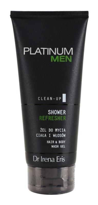 Dr Irena Eris Platinum Men Clean-Up osvežujoč gel za prhanje za telo in lase