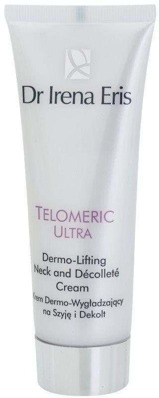 Dr Irena Eris Telomeric Ultra 70+ crema cu efect de lifting pentru gat si decolteu