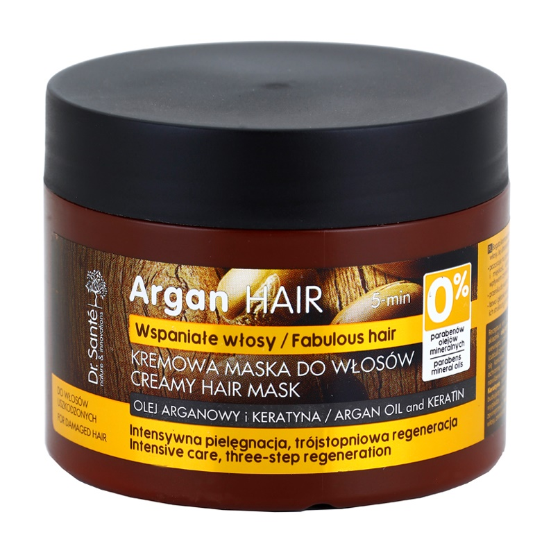 Dr. Santé Argan kremowa maseczka do włosów zniszczonych