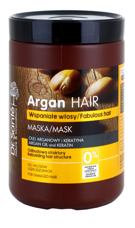 Dr. Santé Argan máscara cremosa para cabelo danificado