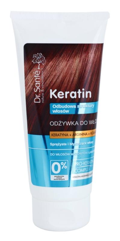 Dr. Santé Keratin acondicionador regenerador para cabello quebradizo sin brillo