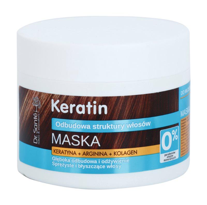 Dr. Santé Keratin hĺbkovo regeneračná a výživná maska pre krehké vlasy bez lesku