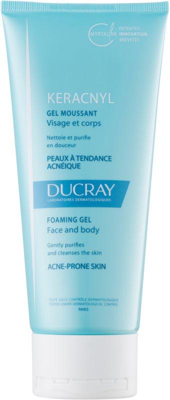 Ducray Keracnyl gel moussant purifiant pour peaux grasses sujettes à l'acné