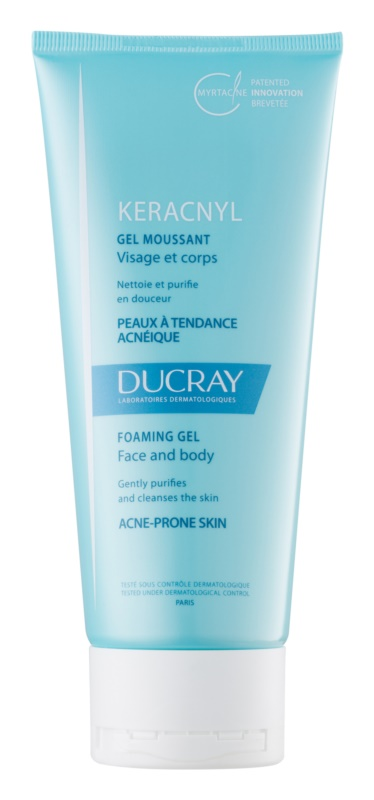 Ducray Keracnyl gel spumant de curatare pentru tenul gras, predispus la acnee