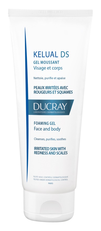 Ducray Kelual DS pěnivý gel pro jemné mytí podrážděné pokožky na obličej a tělo