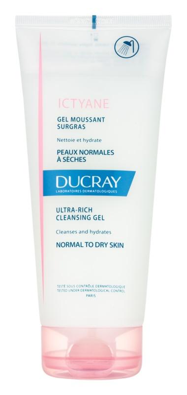 Ducray Ictyane schaumiges Reinigungsgel für normale und trockene Haut