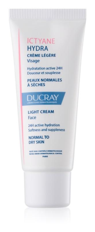 Ducray Ictyane leichte feuchtigkeitsspendende Creme für normale und trockene Haut