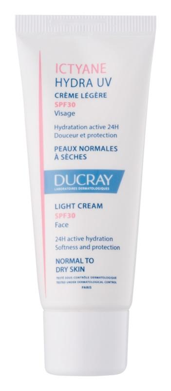 Ducray Ictyane leichte Creme für normale bis trockene Haut SPF 30