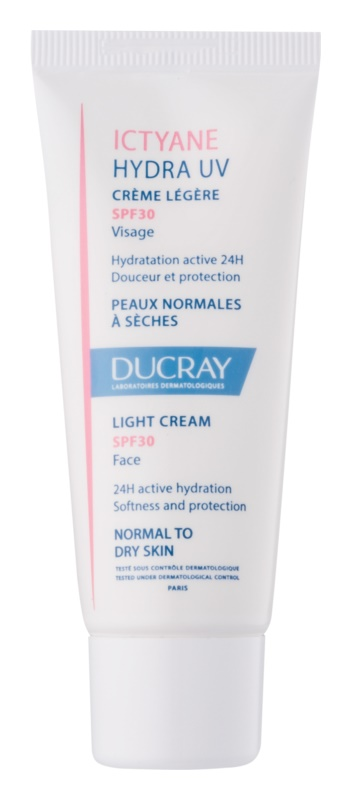Ducray Ictyane Light Moisturiser for Normal to Dry Skin SPF 30