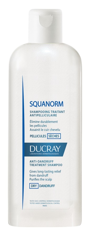 ducray squanorm shampoo gegen trockene schuppen. Black Bedroom Furniture Sets. Home Design Ideas
