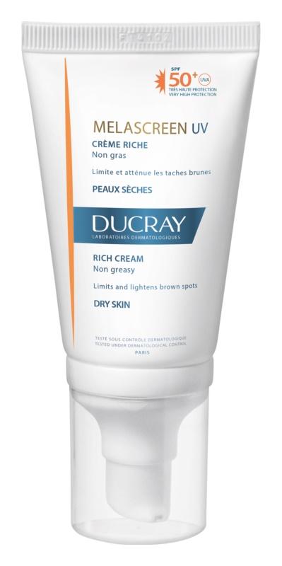 Ducray Melascreen crema abbronzante contro le macchie della pelle SPF 50+