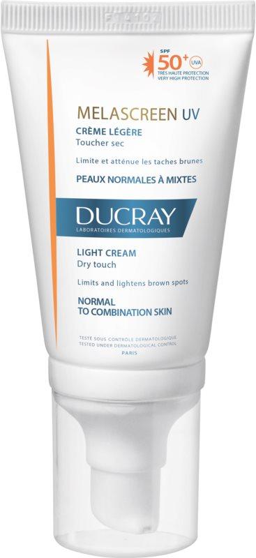 Ducray Melascreen легкий крем для засмаги проти пігментних плям SPF 50+