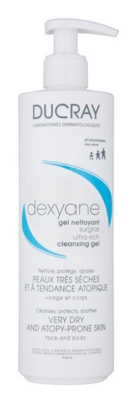 Ducray Dexyane gel de curatare pentru fata pentru piele uscata spre atopica