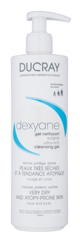 Ducray Dexyane gel de limpeza para rosto e corpo for dry to sensitive skin