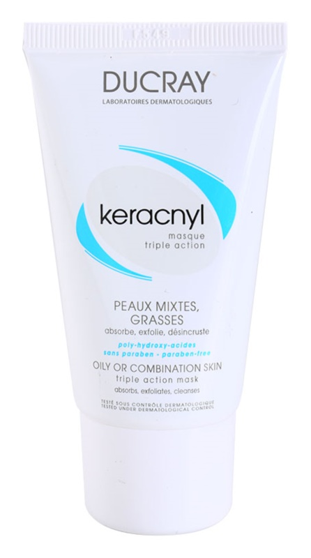 Ducray Keracnyl Cleansing Mask for Oily and Combiantion Skin