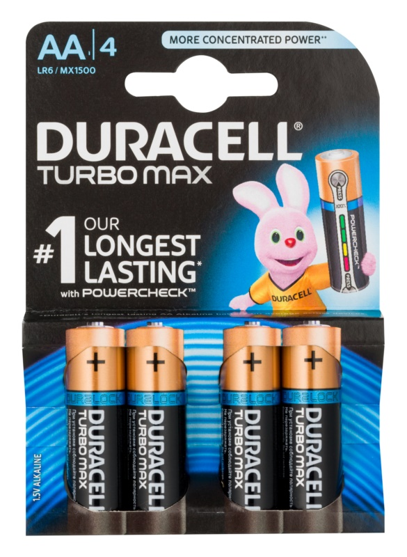 Duracell Turbo Max AA tužková baterie 4 ks