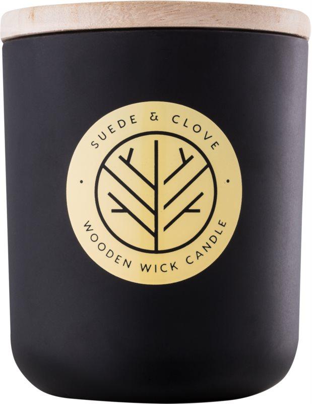 DW Home Black Suede & Clove świeczka zapachowa  320,35 g z drewnianym knotem