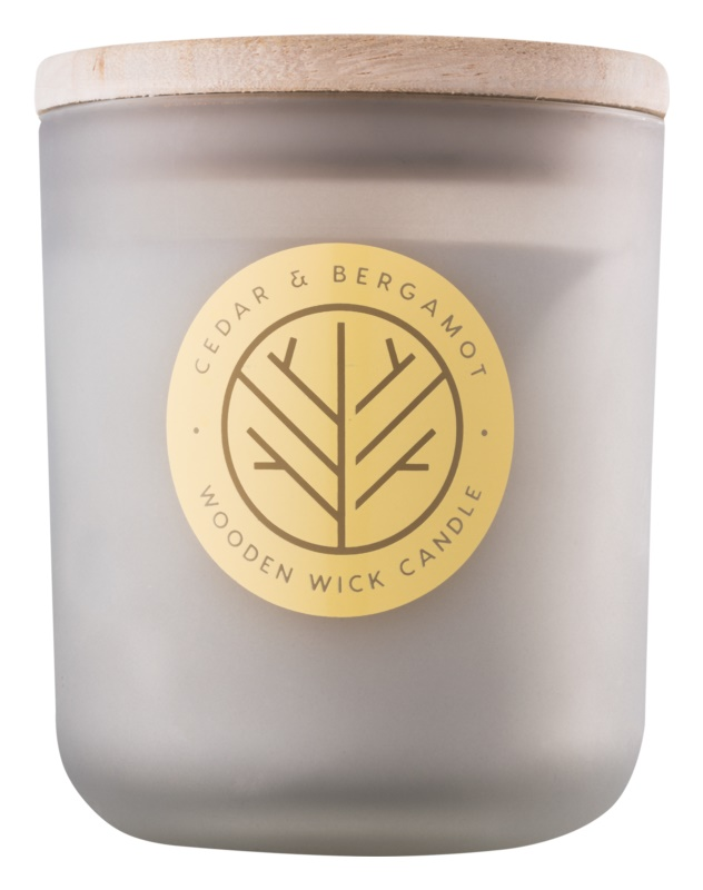 DW Home Cedar & Bergamont Scented Candle 320,35 g wooden wick