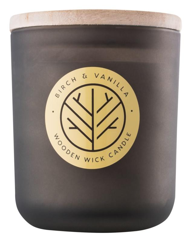 DW Home Smoked Birch & Vanilla bougie parfumée 320,35 g avec mèche en bois