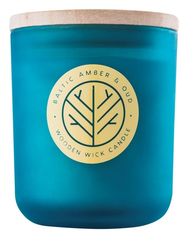 DW Home Baltic Amber & Oud vonná sviečka 320,35 g s dreveným knotom