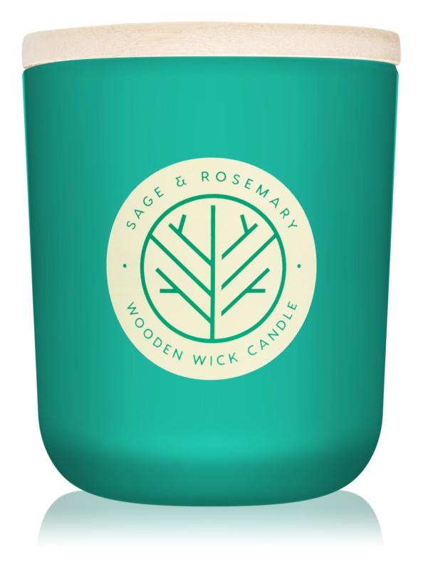 DW Home Sage & Rosemary bougie parfumée 320,49 g avec mèche en bois