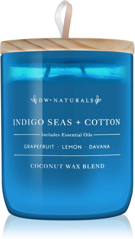 DW Home Indigo Seas + Cotton vonná sviečka 501 g
