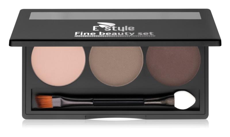 E style Fine Beauty paleta pre líčenie obočia