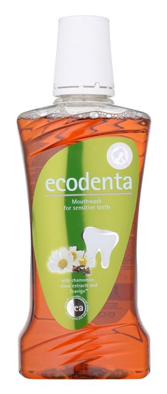 Ecodenta Chamomile & Clove & Teavigo vodica za usta za osjetljive zube