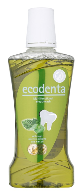 Ecodenta Sage & Aloe Vera & Mint Oil Mundwasser für frischen Atem und den Schutz des Zahnfleisches