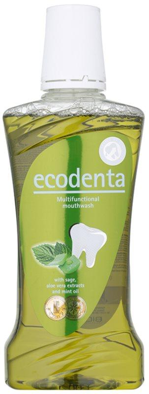 Ecodenta Sage & Aloe Vera & Mint Oil szájvíz a friss leheletért és a fogíny védelmére