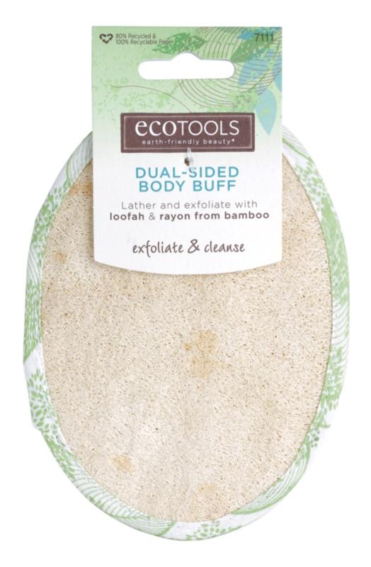 EcoTools Bath & Shower Dubbelzijdige Pelling Washandje