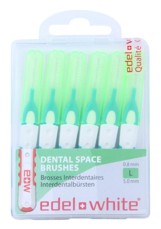 Edel+White Interdental Brushes szczoteczki międzyzębowe 6 szt.