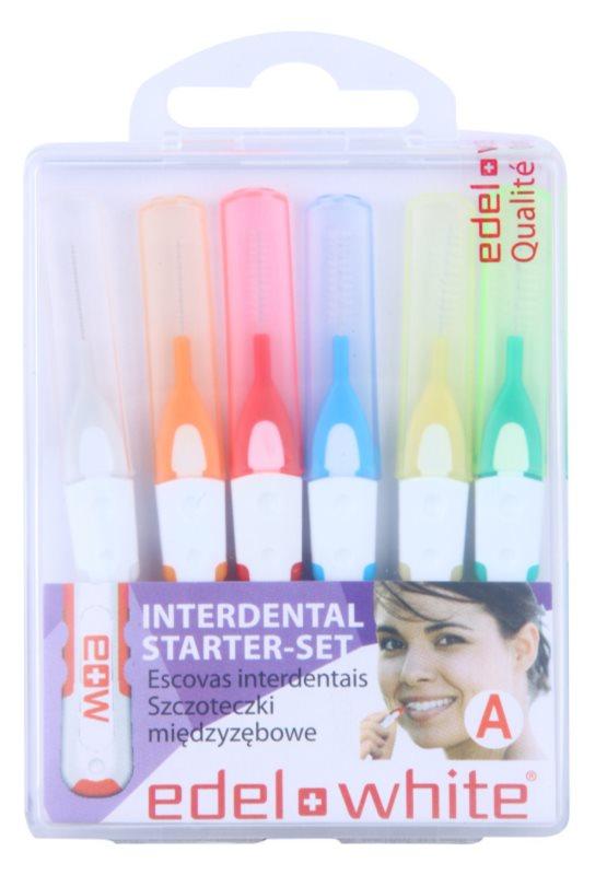 Edel+White Interdental Brushes міжзубні щітки 6 шт суміш