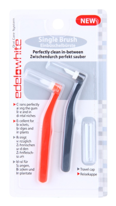 Edel+White Single Brush escovas interdentais 2 pçs