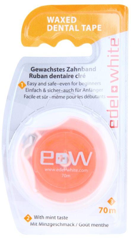 Edel+White Waxed Dental Tape taśma dentystyczna