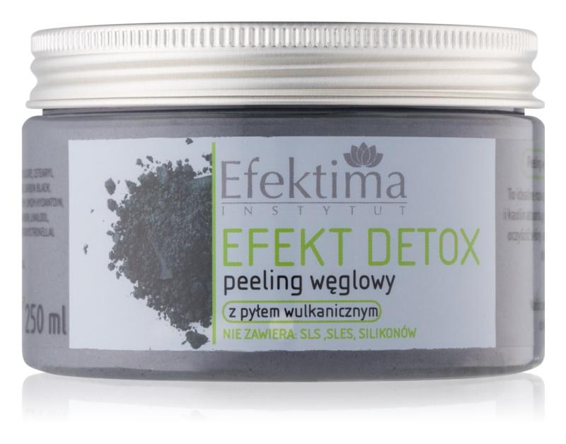 Efektima Institut Efekt Detox telový peeling s aktívnym uhlím