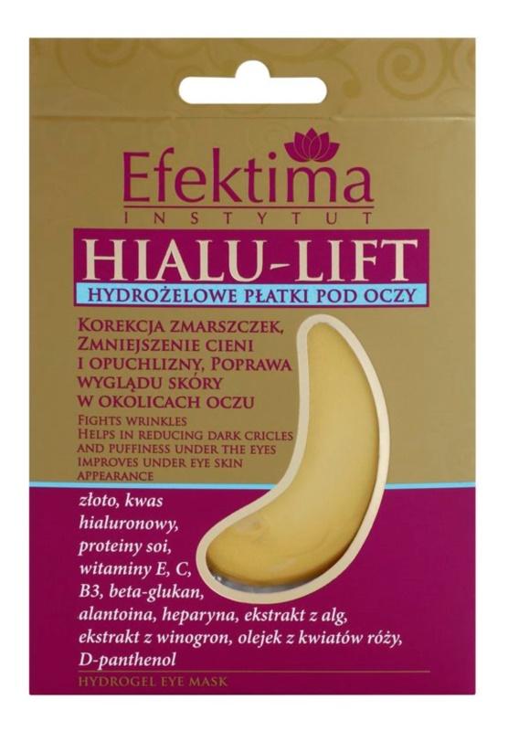 Efektima Institut Hialu-Lift hydrogélová maska na očné okolie proti vráskam a tmavým kruhom