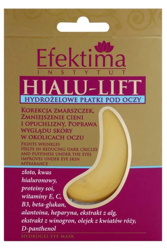 Efektima Institut Hialu-Lift masque hydrogel contour des yeux anti-rides et anti-cernes