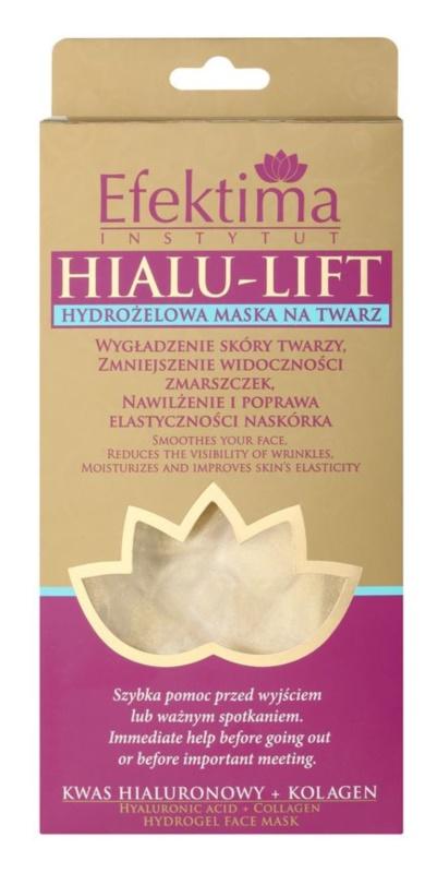 Efektima Institut Hialu-Lift hidrogél maszk az arcbőr kisimítására és a ráncok láthatóságának csökkentésére