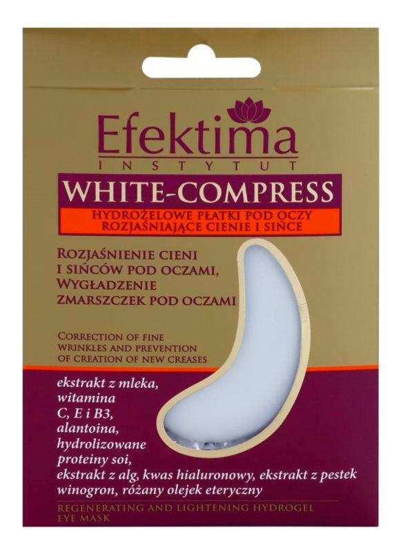 Efektima Institut White-Compress feuchtigkeitsspendende Gel-Maske für den Augenbereich gegen Falten und dunkle Augenringe