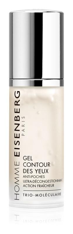 Eisenberg Homme osvežilni gel za predel okoli oči proti gubam, zabuhlosti in temnim kolobarjem