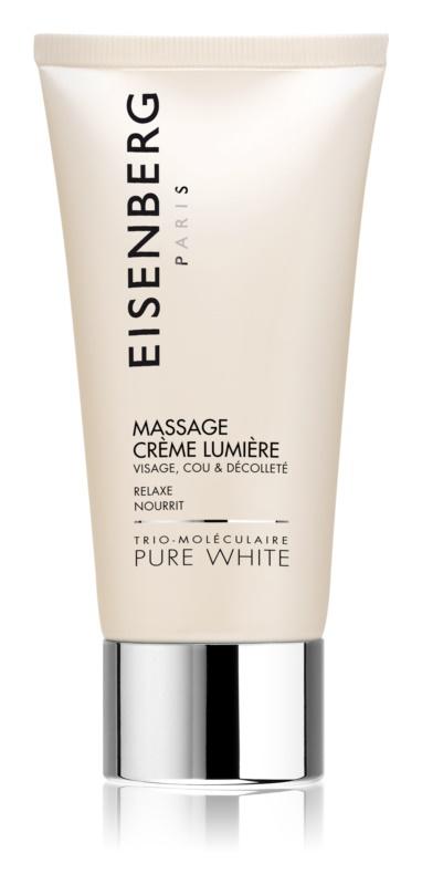 Eisenberg Pure White masažna krema za obraz za osvetljevanje kože in hidratacijo